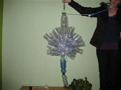 118 fall recycled water bottle chandelier
