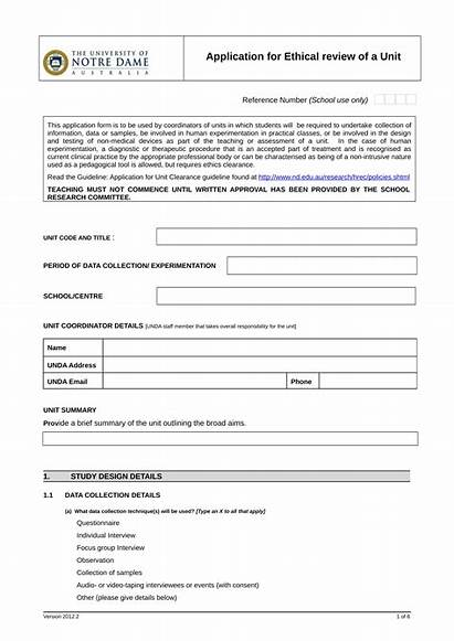 Clearance Application Form Unit Forms Word Pdf