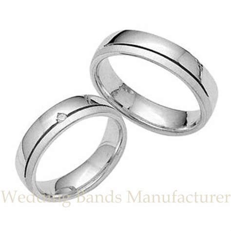 14k white gold his hers matching wedding bands set mens