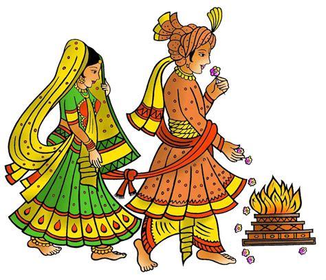wedding card hindu marriage clipart