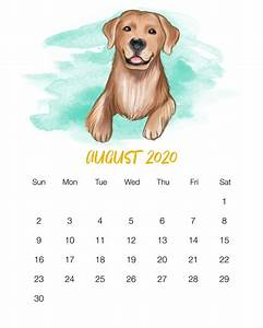 January 2020 Calendars Cute Free Printable 2020 Cute Dog Calendar The Cottage Market