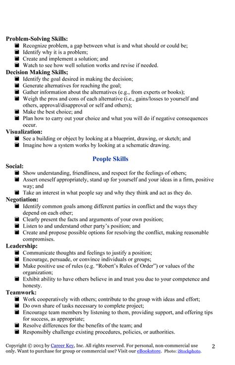 List Of Social Work Skills For Resume by My Works Skills List For Jen Career Key