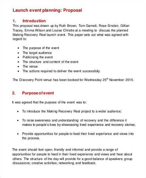 plan proposal templates  sample  format