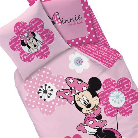 housse de couette minnie parure de lit pink flowers