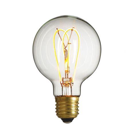 Bathroom Globe Light Bulbs by Decorative Led Filament Bulb Nud Globe Bulb