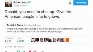 John Lewis to Donald Trump: 'Shut up'   13wmaz.com