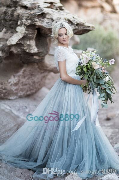 discount sky blue  modest tulle country wedding