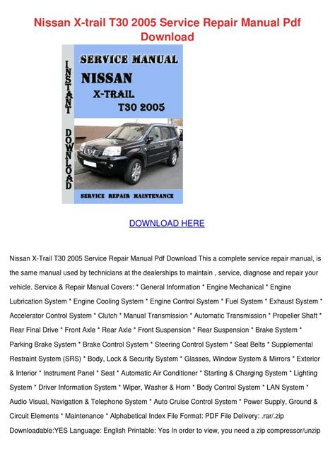 download car manuals 2005 lexus is interior lighting nissan x trail t30 2005 service repair manual by amywicker issuu