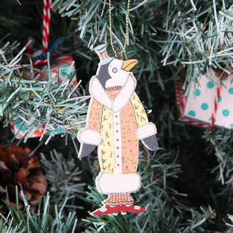 christmas tree penguin decorations by red berry apple