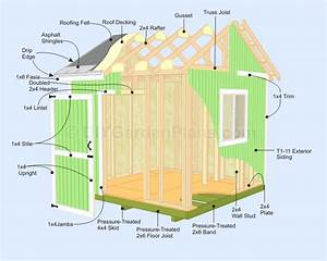 10x10 Gable Shed Plans  Lots Of Pictures Makes Building