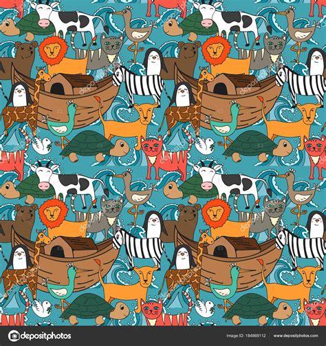 historia arca de no en dibujos dibujos biblicos noah story 294 | depositphotos 184869112 stock illustration vector seamless pattern noah ark