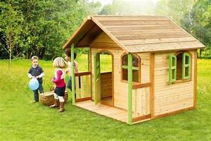 axi holz spielhaus milan kinderspielhaus garten 200cm x With französischer balkon mit spielhaus garten kinder