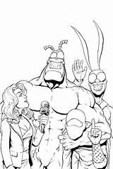 Tick Cartoon Coloring Comic Covers Cartoons Drawing Comics Template Sketch sketch template