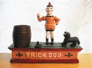 Antique Cast Iron Trick Dog Bank