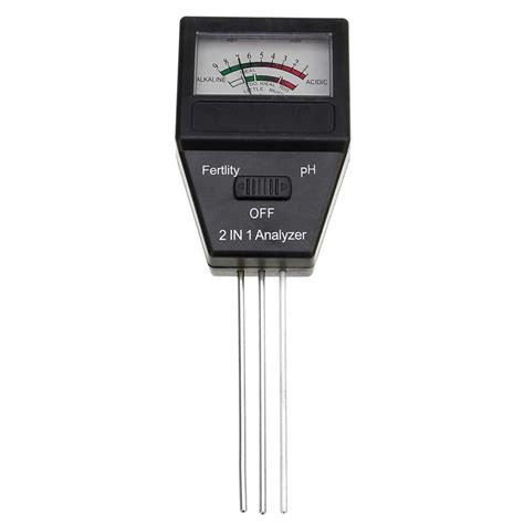 2 In 1 Soil Ph Meter Feitility Tester With 3 Probes