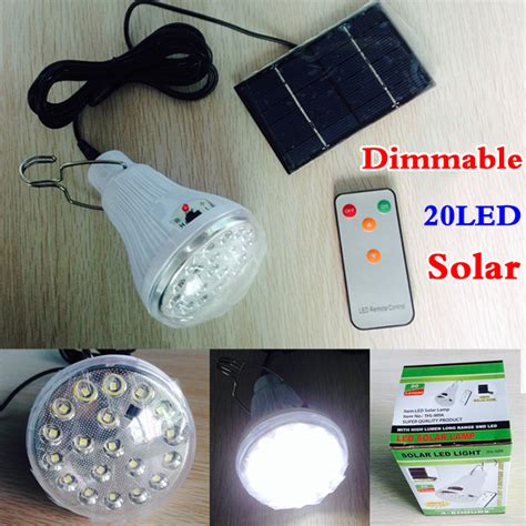 indoor dimmable dc6v 20 led 2 5w remote solar
