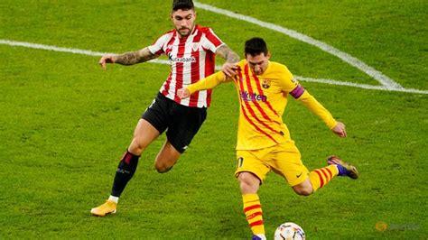 Soccer-Messi shines as impressive Barca win in Bilbao - CNA