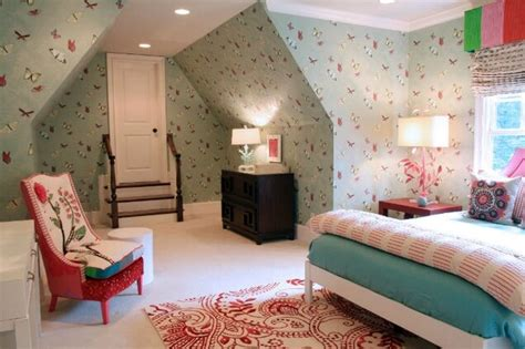 wallpaper  teenage girls bedroom drapery room ideas
