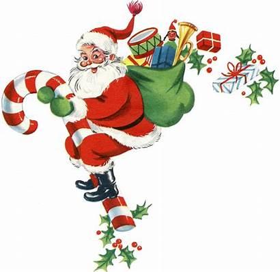 Candy Santa Cane Retro Christmas Clipart Graphics
