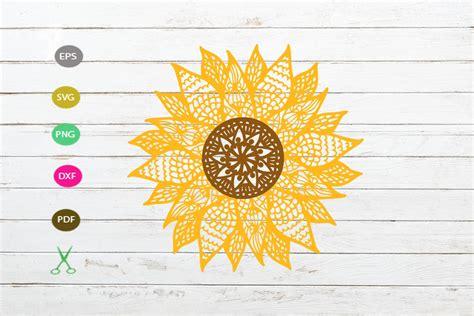 Love the shadowbox mandala design. mandala sunflower svg cut file, mandala for cricut,flower ...