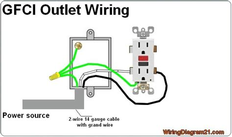 gfci outlet wiring diagram wiring   outlet