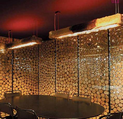 ideas  decorar paredes  troncos de madera el