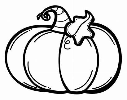 Pumpkin Clipart Drawing Transparent Coloring Halloween Pages