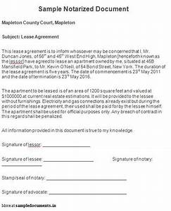 sample notarized document notarized documents pinterest With notarized document template
