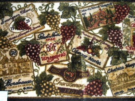 Wine Grapes Kitchen Rug Tuscan Decor