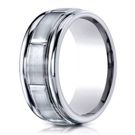 s palladium contemporary wedding ring 6mm just