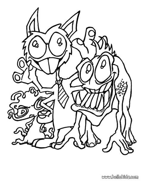 monsters  ties coloring pages hellokidscom