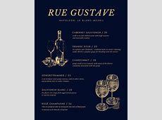 Customize 248+ Wine Menu templates online Canva