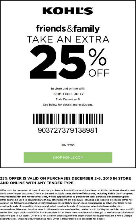 24475 Kohls May Coupons by Pinned December 3rd 25 At Kohls Or Via Promo
