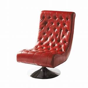 Fauteuil Crapaud Maison Du Monde : fauteuil capitonn en polyur thane rouge bossley maisons ~ Melissatoandfro.com Idées de Décoration