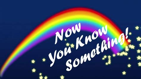 Now you know something! - YouTube