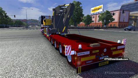 volvo trailer for volvo ew230c trailer euro truck simulator 2 mods