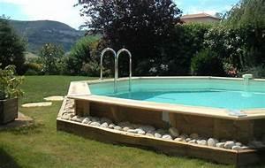 Piscine Bois Semi Enterrée : la piscine en bois nortland ubbink blog piscine hors ~ Melissatoandfro.com Idées de Décoration