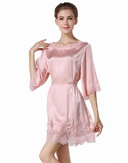 Silk Pajamas Lace Nightgown Night Gown Mulberry