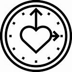 Clock Icon Heart Icons Lovely Svg Elements