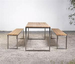 Tisch Und Bank : tisch und bank at 06 gartenb nke von silvio rohrmoser architonic ~ Eleganceandgraceweddings.com Haus und Dekorationen