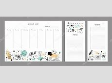 Modelo de planejamento semanal Organizador — Vetores de