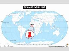 Where is Ghana Located? Location map of Ghana