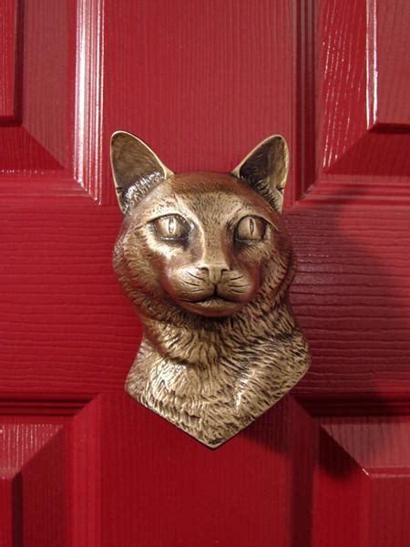 cat door knocker dog head door knockers