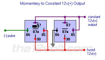 Momentary Constant Output Relay Diagram