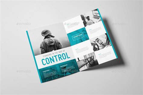 modern geometric bifold brochure  snowboy graphicriver