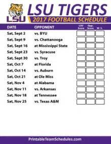 LSU Tigers Football Schedule 2017