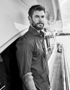 Chris Hemsworth-looking broodingly handsome in a photo