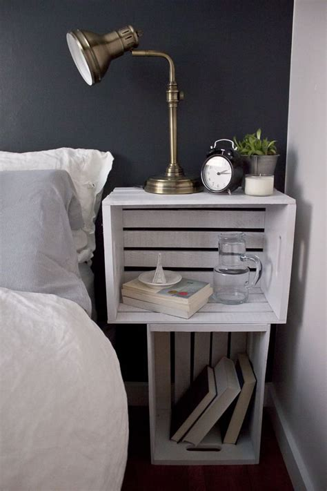 bedroom side table l ideas bedroom diy turn old crates into a functional nightstand
