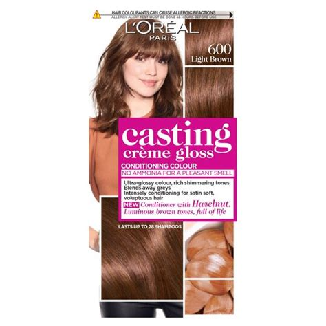 After colouring, the conditioner reveals shiny blonde hair with a sunkissed look. L'oreal Casting Creme Gloss Light Brown 600 Semi-Permanent ...