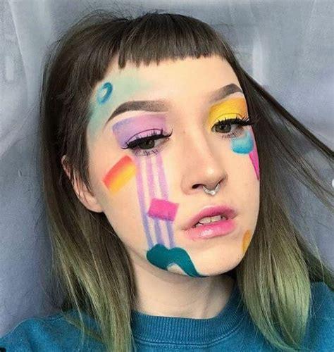 maquillage arc en ciel idees de maquillage delirantes